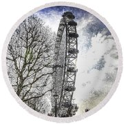 The London Eye Art Round Beach Towel