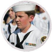 Us Naval Sea Cadet Corps - Gulf Eagle Division, Florida Round Beach Towel
