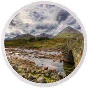 A Landscape Nature Round Beach Towel