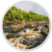 Nature Landscape Oil Painting Round Beach Towel
