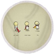 12483 Funny Simple Round Beach Towel