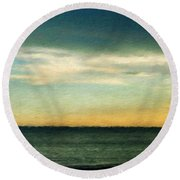 Landscape Paintings Canvas Prints Nature Art  Round Beach Towel