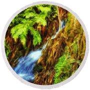 Nature Art Landscape Canvas Art Paintings Oil Round Beach Towel