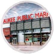 1275 Milwaukee Public Market Round Beach Towel