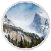 Landscape Art Nature Round Beach Towel
