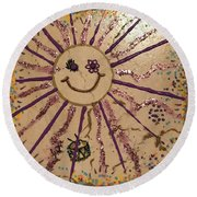 12th Day Of Christmas Round Beach Towel