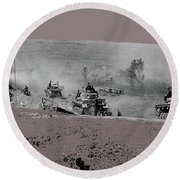 12th Panzer Division On The Move To Stalingrad August 1942 Color Added 2016 Round Beach Towel