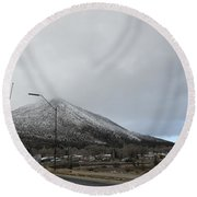 Arizona Mountain Landscape Round Beach Towel