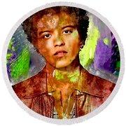 Bruno Mars Round Beach Towel