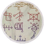 Cabbalistic Signs And Sigils, 18th Round Beach Towel