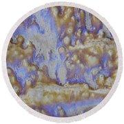 13. Cascade Brown Glaze Painting Round Beach Towel