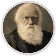 Charles Robert Darwin, 1809-1882 Round Beach Towel