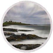 Dunstanburgh Castle Round Beach Towel