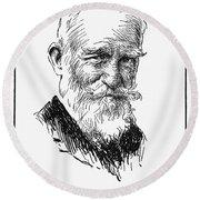 George Bernard Shaw Round Beach Towel