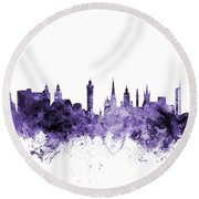 Glasgow Scotland Skyline Round Beach Towel