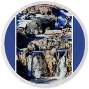 Great Falls Of The Potomac Round Beach Towel