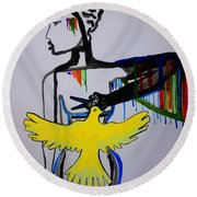 Hope For Peace In South Sudan Round Beach Towel