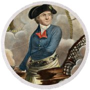 John Paul Jones, 1747-1792 Round Beach Towel