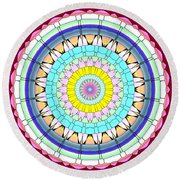 Mandala Ornament Round Beach Towel