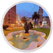 Montevideo, Uruguay Round Beach Towel