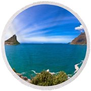 Nature Pictures Round Beach Towel