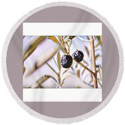 Olives Round Beach Towel