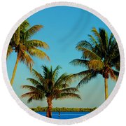 13- Palms In Paradise Round Beach Towel
