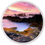 Scenery Oil Paintings On Canvas Round Beach Towel