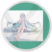 Vocaloid Round Beach Towel