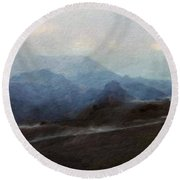 Nature Landscape Artwork Round Beach Towel