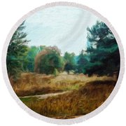 Nature Landscape Wall Art Round Beach Towel