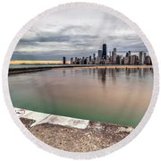 1323 A View From The Breakwall Round Beach Towel
