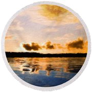 Nature Landscape Jobs Round Beach Towel