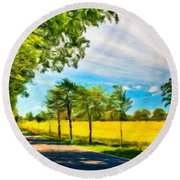 Types Of Landscape Nature Round Beach Towel