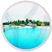 Nature Landscape Work Round Beach Towel