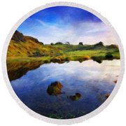 Landscape Pictures Nature Round Beach Towel