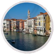 1399 Venice Grand Canal Round Beach Towel