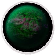Abstract Planet Round Beach Towel
