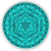 Birth Mandala- Blessing Symbols Round Beach Towel