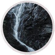 Cedar Creek Falls In Mount Tamborine Round Beach Towel
