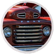 Classic Ford Pickup Round Beach Towel