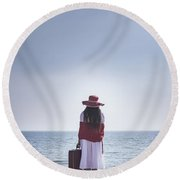 Farewell Round Beach Towel