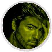 George Michael Collection Round Beach Towel