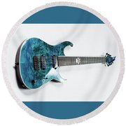 Guitar Round Beach Towel
