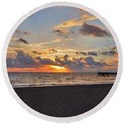 14- Juno Beach Pier Round Beach Towel