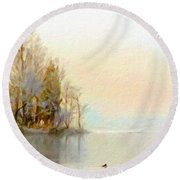 Landscapes Paintings Round Beach Towel