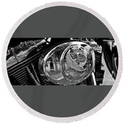 Motorcycle Round Beach Towel