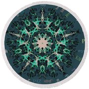 Peace All Over The World Round Beach Towel