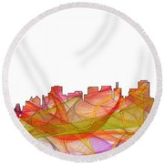 San Francisco California Skyline Round Beach Towel