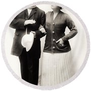 Silent Film Still: Couples Round Beach Towel
